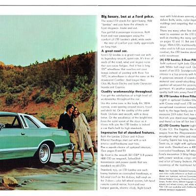 1977 Ford LTD color Brochure Prospekt